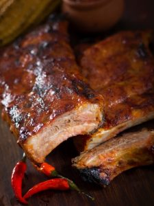 Slow Cooked Sticky Pork Ribs